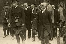 Prezident Tomáš Garrigue Masaryk v Klatovech