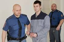 Petr Fajnor u klatovského soudu.