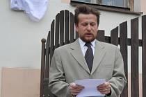 Slavnostní odhalení pamětní desky na počest Josefa Vaněčka v Hejné