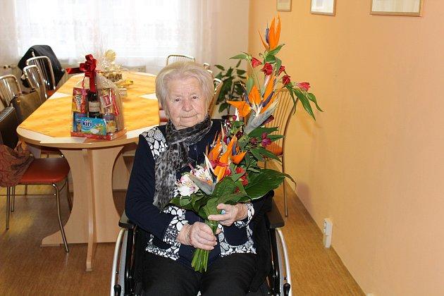 Kateřina Salajová z Klatov oslavila v pondělí 100. narozeniny.
