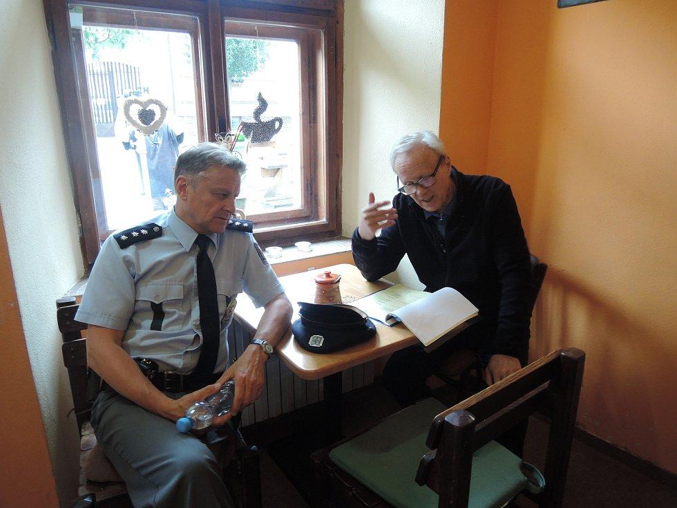 Natáčení třetí řady Policie Modrava - první den.