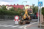 Podhůrecká ulice v Klatovech.