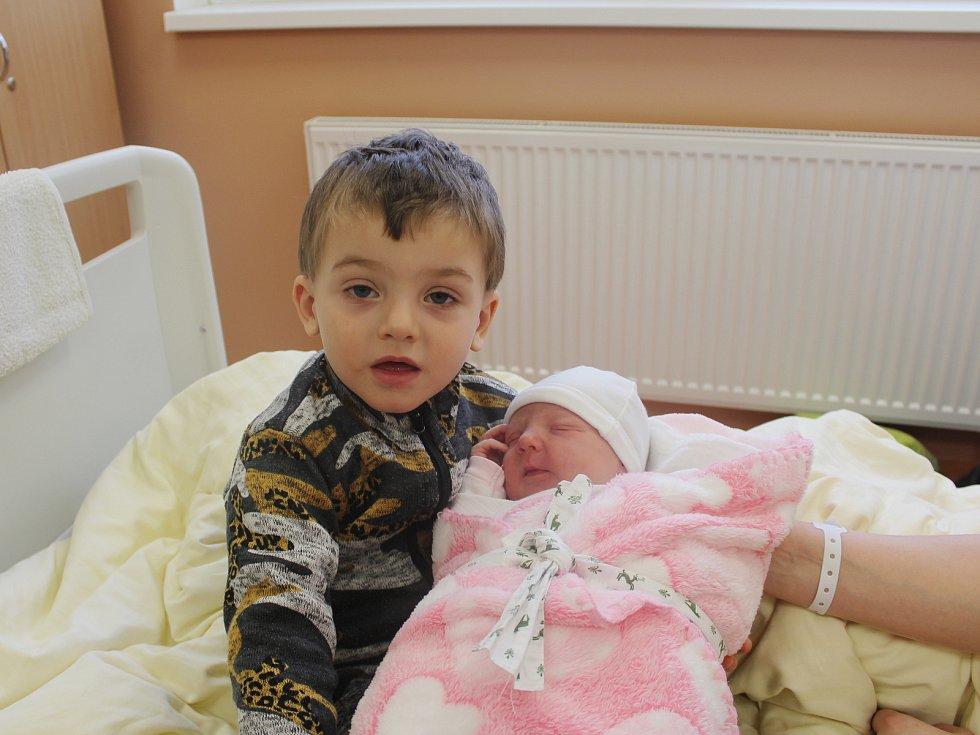 Nina Bošková z Bukové se narodila v klatovské porodnici 5. ledna v 17.09 hodin (3880 g, 51 cm). Pohlaví svého druhorozeného miminka věděli rodiče Dana a Jiří dopředu. Z malé sestřičky má radost i Tadeáš (2,5).