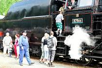 Návštěvníky lákala drezína i parní vlak