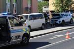 Nehoda v Domažlické ulici v Klatovech