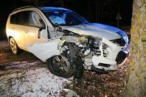 Nehoda u Nalžovských Hor.