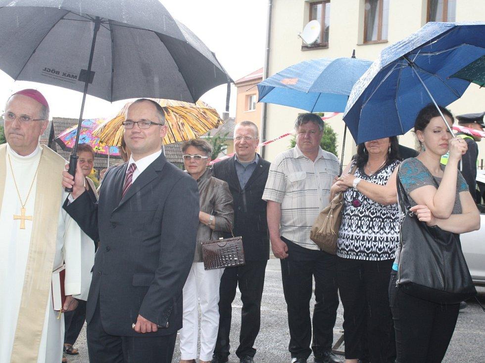 Odhalení pamětní desky Josefu Peksovi v Bolešinech