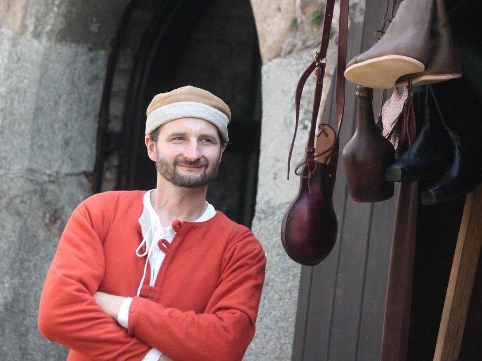 Natáčení pohádky O kouzelném jablku v Klatovech.