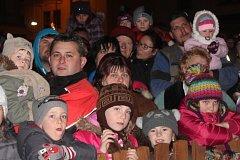 Rozsvícení vánočního stromu v Klatovech a v Kolinci