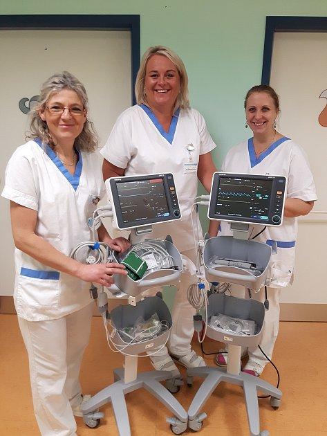 Dětské oddělení vKlatovech získalo nové monitory dechu.