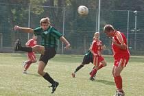 Fotbal starší dorost Sušice (zelenočerné dresy) - Smíchov Plzeň