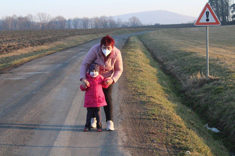 Poslední setkání rodiny na hranici s okresy Klatovy a Plzeň-jih.