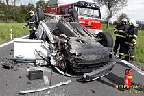 Dopravní nehoda u Sušice.
