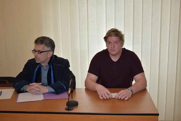 Marcel Fryje ze Sušicka usoudu vKlatovech.