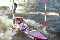 Karolína Galušková z Klubu vodních sportů Sušice vyhrála soutěž K1 žen na mistrovství ČR ve vodním slalomu.