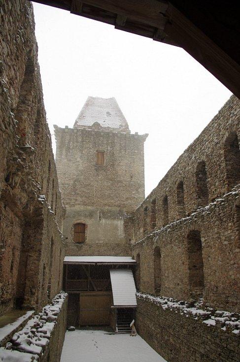 Sněhová nadílka na Kašperku.