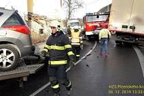 Nehoda v Defurových Lažanech.