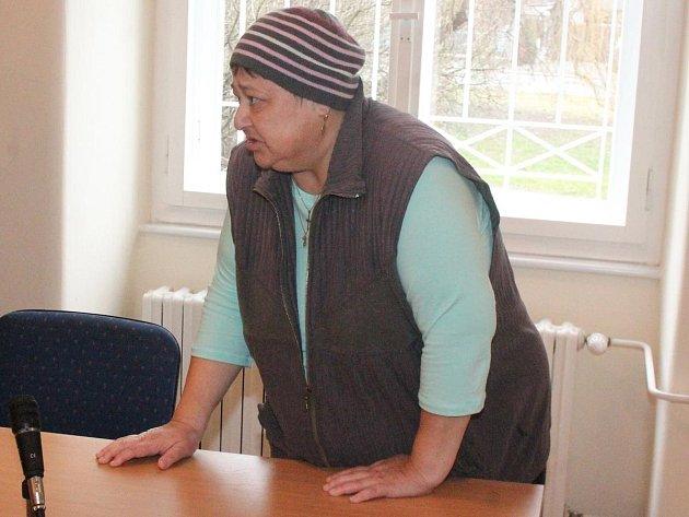 Ivana Maříková u klatovského soudu