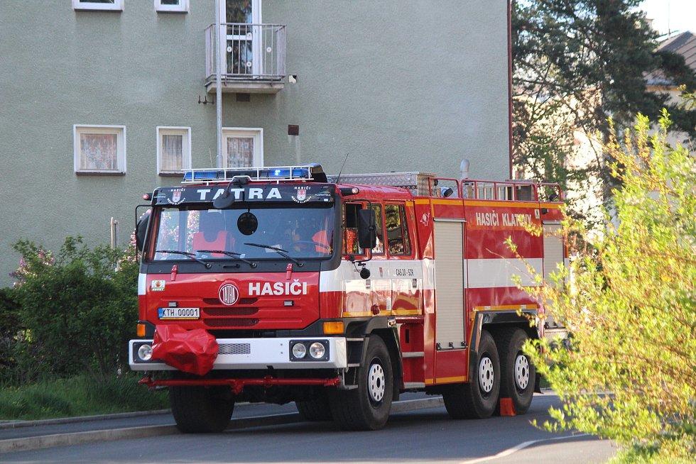 Požár v Klatovech.