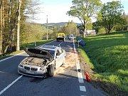Dopravní nehoda v neděli 14. května u Javorné.