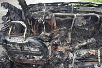 Požár BMW u Železné Rudy