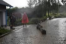Bleskové povodně v Neznašovech na Klatovsku.