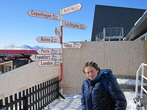 Klatovský lyžař Bohumil Němec na závodu Arctic Circle Race 2011 v Grónsku