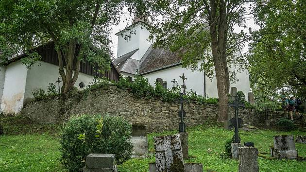 Kostel sv. Mořice na Mouřenci u Annína. Ilustrační