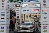 Cílová rampa 21. Historic Vltava Rallye.