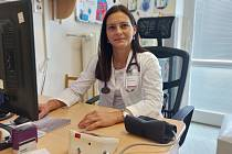 Lékařka hemodialyzačního střediska MUDr. Kateřina Oulehle.