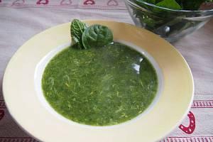 Zelená polévka.