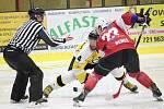 2. liga 2016/2017 - čtvrtfinále play-off, 3. zápas: SHC Klatovy (červené dresy) - HC Moravské Budějovice 2005 0:6