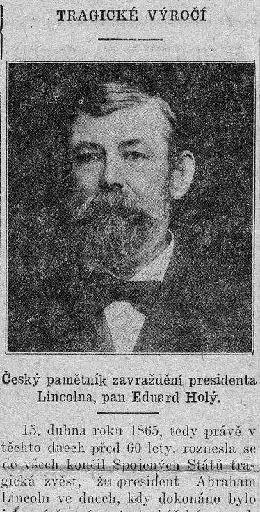 Eduard Holý. Foto: archiv rodiny Holých