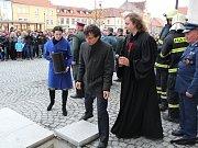 Slavnostní otevření rekonstruovaného náměstí v Horažďovicích.