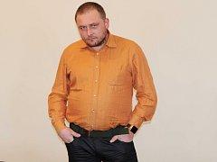 Josef Říha u klatovského soudu.
