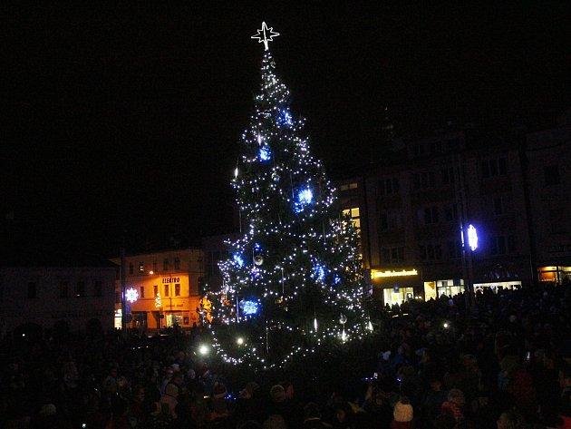 Rozsvícení vánočního stromu v Klatovech