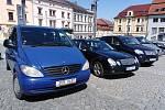 Sraz vozů značky Mercedes v Klatovech.