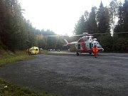 Nehoda motorkáře mezi Železnou Rudou a Javornou