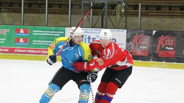 Krajská liga: HC Klatovy (červené dresy) - TJ Apollo Kaznějov 11:1