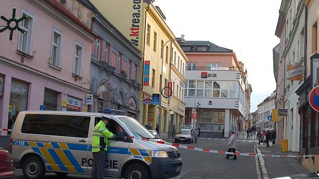 V Komerční bance v Klatovech byla hlášena bomba