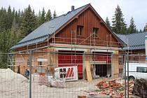 Výstavba hasičské zbojnice a sběrného dvora na Modravě.