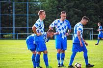Fotbalisté Nýrska (snímek pochází ze zápasu letní přípravy proti Domažlicím B - 4:3) jedou v prvním kole krajského přeboru na Rapid.