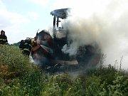 Požár válce v Horažďovicích.