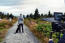 Foto z natáčení videoklipu k písni Šumava od skupiny MY4.
