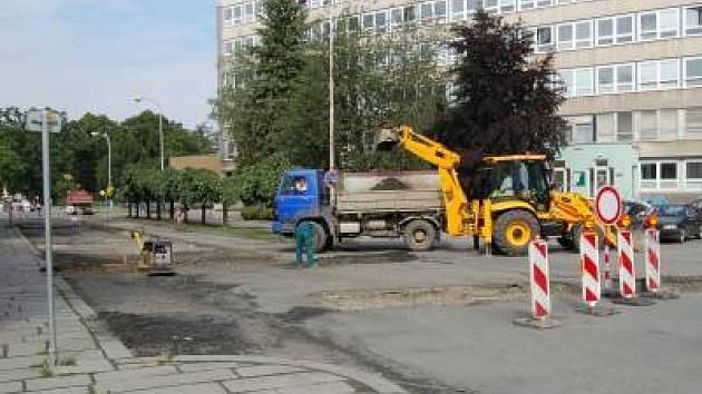 Kollárova ulice v Klatovech je znovu neprůjezdná