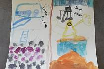 Kryštof Kremsa, 7 let, Plzeň-Křimice. Nakreslil, na co se těší, až pomine koronavirové omezení.