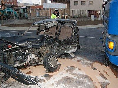 Řidička nehodu naštěstí přežila.