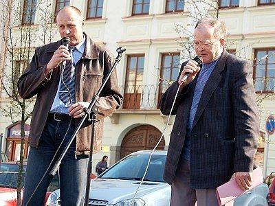 Starosta Klatov Rudolf Salvetr a místostarosta Jan Vrána