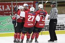 Je to doma! Klatovští hokejisté se mohli radovat ve všech čtyřech zápasech play-off s Pelhřimovem.