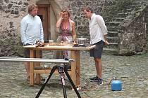 Natáčení pořadu Kluci v akci ve Švihově.